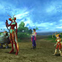 Magus Sisters' victory pose.