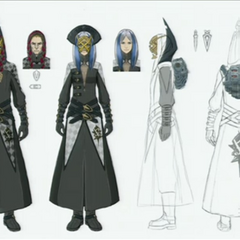 Concept artwork of Luxerion's Order members.