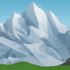 Mountain background in <i><a href=