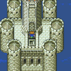The top of the Fork Tower's right tower (GBA).
