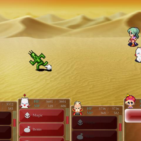Cactuar in battle (iOS/Android).