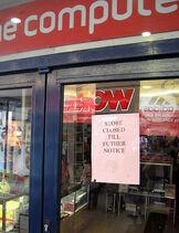 Bankrupt computer store