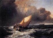 400px-Joseph Mallord William Turner - Dutch Boats in a Gale - WGA23163