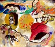 220px-Wassily Kandinsky, Improvisation 27, Garden of Love II, 1912. Exhibited at the 1913 Armory Show