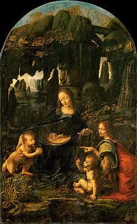 File-Leonardo da Vinci - Virgen de las Rocas (Museo del Louvre, c