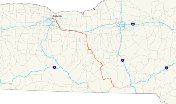 NY State Route 96 map