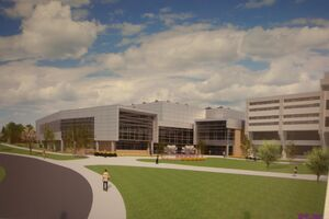 New FLCC Student Life Center design plan drawing-Finger Lakes Community College