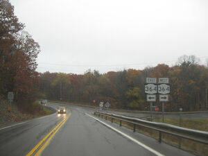 Route 247 meeting route 364 in Potter
