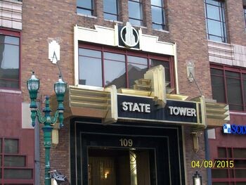 State Tower Building entrance