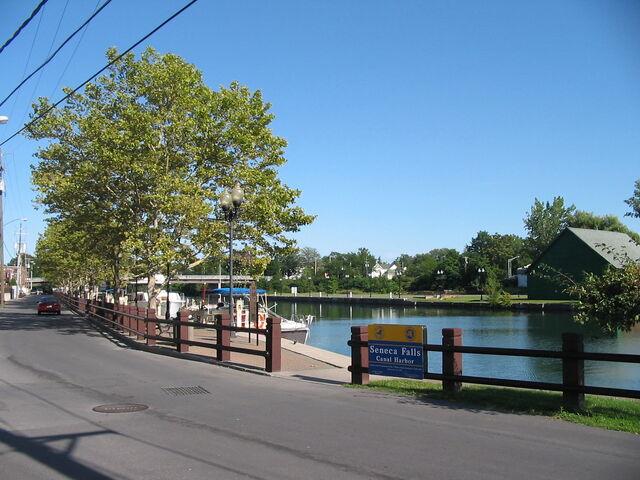 File:Seneca Falls New York Canal Harbor.jpg