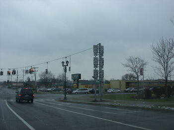 Rome, new york intersection of state routes 69, 49 and 46