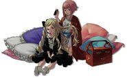 Elise and Sakura Fire Emblem if by Kozaki Yuusuke