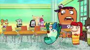 Fish dancing in class