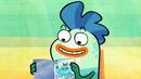 Milo reading Captain Aquarium