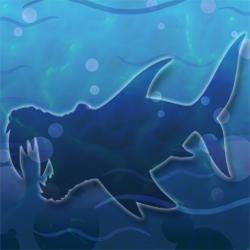 Walrus shark hidden