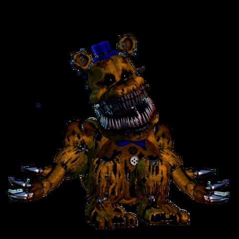 File:Nightmare golden freddy fnaf 1 version.png