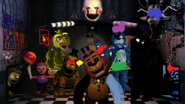 File:Five nights at freddy s the animatronic s by multishadowyoshi-d86c8cu.png