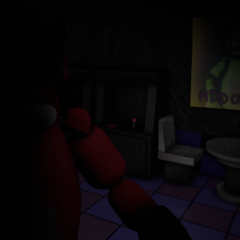 Po 2.0 in Dipsy's Arcade with no eyes, from the Nightmare Night.