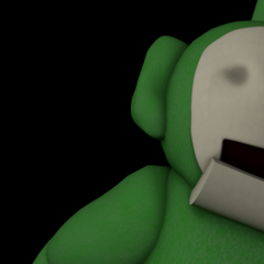 Beta Dipsy in the <i>Five Nights at Dipsy's</i> title screen.