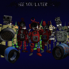 All of the tubbybots saying bye, from Critolious's DeviantArt. Note that Tinky Winky from this game is here.