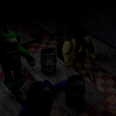 Beta Tinky Winky, Laa-Laa, and Dipsy in the Dining Room 1.