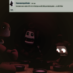 An image of Po playing poker with the other Pos from Critolious's DeviantArt.