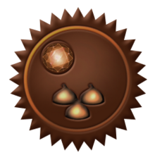 Chocolate chip badge