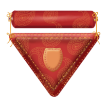 Polyester badge