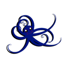Blue Pet Octopus