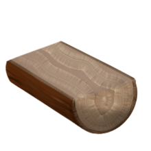 Raw white oak wood
