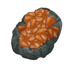 Raw Clinohumite Gem