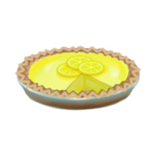 Sour lemon pie