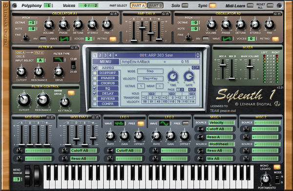 Sylenth1 VST GUI