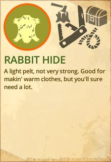 Rabbit hide