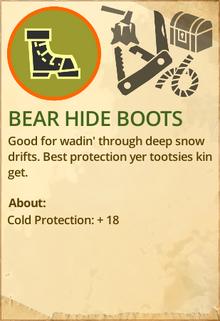 Bear hide boots