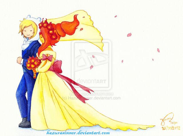 File:Finn and Flame Princess matrimony.jpg