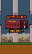 ZombieBird-GameOver