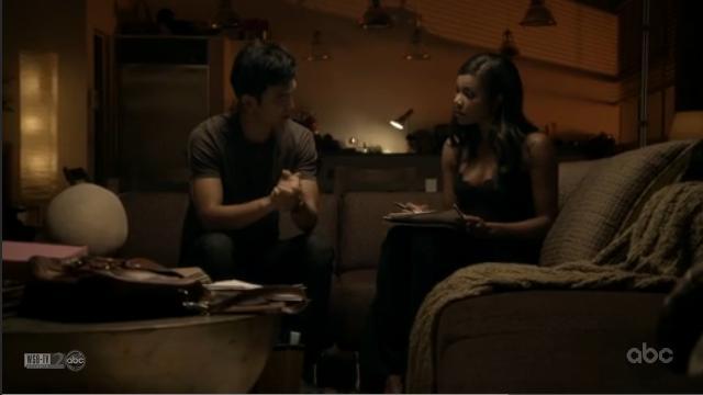 File:1x07 Demetri and Zoey Talk.jpg