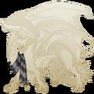 Silver steampunk scarf guard f