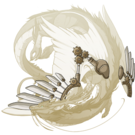 Gold steampunk wings imp f