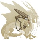 Gold steampunk wings imp m