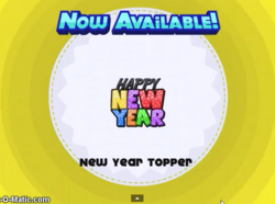 Papa's Cupcakeria - New Year Topper
