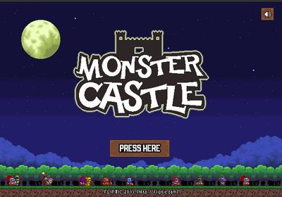 Monster castle defense menu image