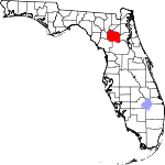 150px-Map of Florida highlighting Alachua County svg