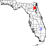 150px-Map of Florida highlighting Clay County svg