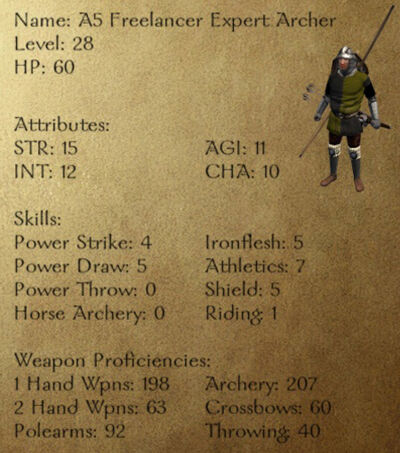 A5 Freelancer Expert Archer
