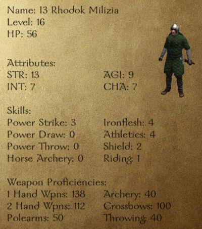 I3 Rhodok Milizia