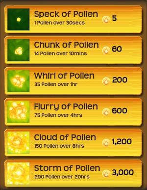 Pollen Flower Menu§Stage01