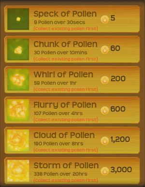 Pollen Flower Menu§Stage05 CollectFirst