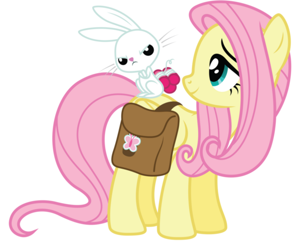 File:Fluttershy and Angel.png